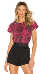 Pam And Gela Python Basic Tee In Pink. Raspberry