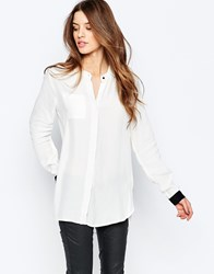 Y.A.S Gaga Long Sleeve Contrast Shirt Y.A.S Gaga Long Slee White