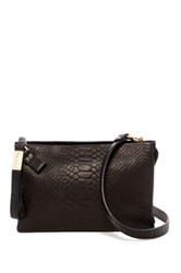 Foley Corinna Cache Day Convertible Leather Clutch Black