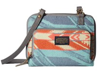 Pendleton Wallet On A Strap Coquille River Aqua Coral Wallet Handbags Blue