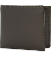 Launer Calf Leather Billfold Wallet Brown