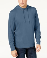 Club Room Men's Jersey Hooded Shirt Created For Macy's Wedgewood Blue