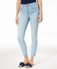 Maison Jules Button Fly Skinny Jeans Created For Macy's Avalon Wash