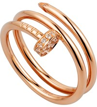 Cartier Juste Un Clou 18Ct Pink Gold And Diamond Double Ring