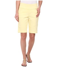 Jag Jeans Ainsley Bermuda Classic Fit Colored Denim Lemoncello Women's Shorts Yellow