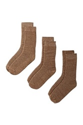 Bottoms Out Socks Pack Of 3 Brown