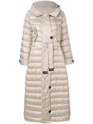Max Mara 'S Oversized Padded Coat Feather Down Polyamide Polyester Feather Nude Neutrals
