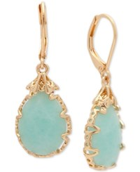 Lonna And Lilly Gold Tone Imitation Pearl Drop Earrings Turquoise