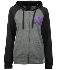 5Th And Ocean Women's Sacramento Kings Audible Hooded Sweatshirt Gray Black