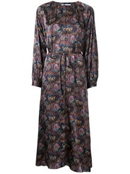 H Beauty And Youth Floral Print Belted Dress