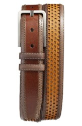 Mezlan Men's Palma Leather Belt Cognac Multi