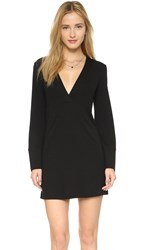 Lanston Deep V Dress Black