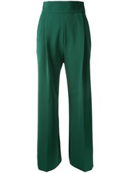 H Beauty And Youth Tailored Straight Trousers Green
