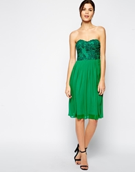 Elise Ryan Cornelli Midi Bandeau Dress Brightgreen