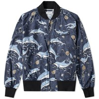 Engineered Garments Aviator Jacket Blue
