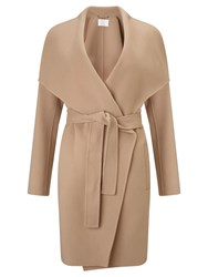 Boss Logo Boss Tie Belt Wrap Coat Camel