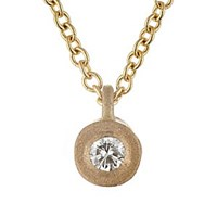 Tate White Diamond Pendant Necklace Yellow Gold
