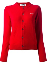 Comme Des Garcons Play 'Play' Cardigan Red