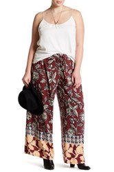 Angie Printed Soft Pant Plus Size Red