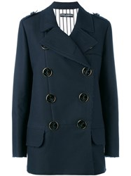 Dolce And Gabbana Double Breasted Jacket Blue