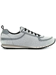 Car Shoe Lace Up Sneakers Grey