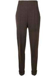 Romeo Gigli Vintage 1990'S Tailored Trousers Brown
