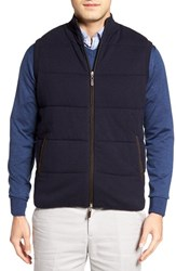 Peter Millar Men's Quilted Wool And Cotton Vest Navy