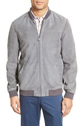 Men's Ted Baker London 'Vipers' Suede Bomber Jacket