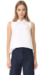 Carven Sleeveless Top Blanc Optique