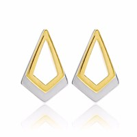 Neola Serenity Gold And Sterling Silver Earrings