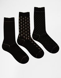 Ted Baker Pinnie 3 Pack Socks Multi