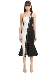 David Koma Paneled Dress W Embellished Chain Band
