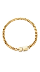 Marc By Marc Jacobs Lock In Choker Necklace Oro