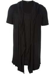 Unconditional Draped Layer T Shirt Black
