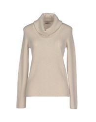 Kangra Cashmere Knitwear Turtlenecks Women Beige