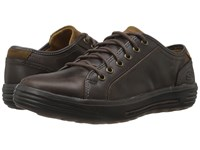 Skechers Relaxed Fit Porter Ressen Chocolate Leather Men's Lace Up Casual Shoes Brown