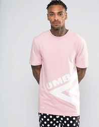 House Of Holland X Umbro T Shirt With Large Logo Pink