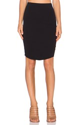James Perse Tulip Back Skirt Black