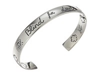 Gucci 9Mm Blind For Love Bangle Silver