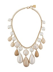 Rosantica Beaded Statement Necklace Gold