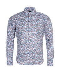 Eden Park Men's Printed Cotton Shirt Blue