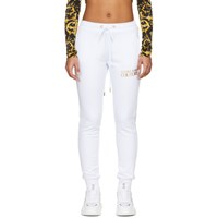 Versace Jeans Couture White Logo Lounge Pants