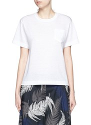 Sacai Star Lace Back Slub T Shirt White