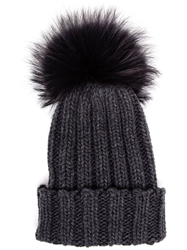 Inverni Bobble Top Beanie Grey