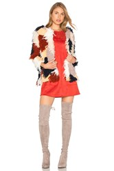 Tularosa Pfeiffer Faux Fur Coat Blue