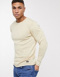 Only And Sons 100 Cotton Crew Neck Jumper Cream
