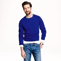J.Crew Wallace And Barnes Colorblock Sweatshirt In Royal Blue
