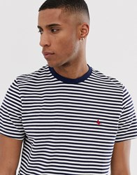 Jack Wills Russford Stripe T Shirt In Navy