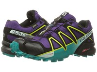 Salomon Speedcross 4 Gtx Acai Deep Peacock Blue Sulphur Spring Women's Shoes Purple