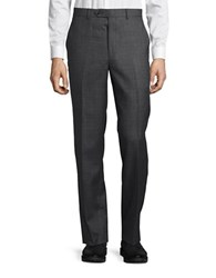 Lauren Ralph Lauren Wool Flat Front Pants Grey